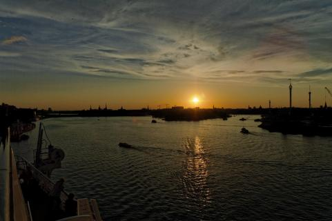 Sonnenuntergang, Stockholm