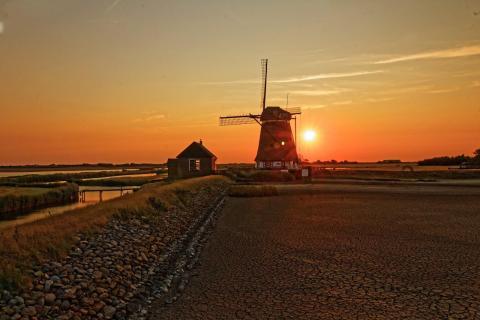 Mühle Texel Sonnenuntergang