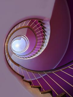 Purple staircase