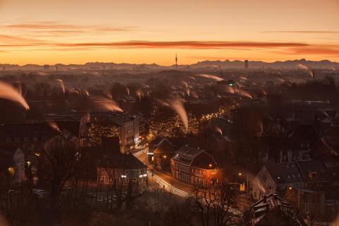 Weihnachtsstimmung bei Sonnenaufgang