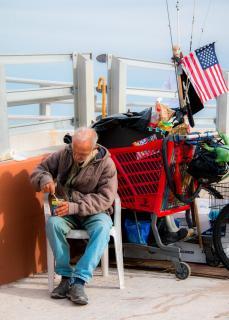 Obdachloser in Key West