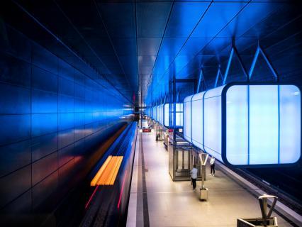 Lichtspiel U-Bahn Hamburg