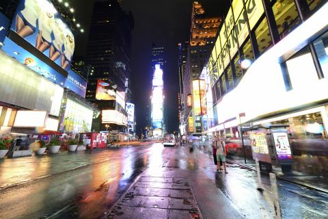 Times Square im Regen