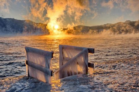 Der See brennt