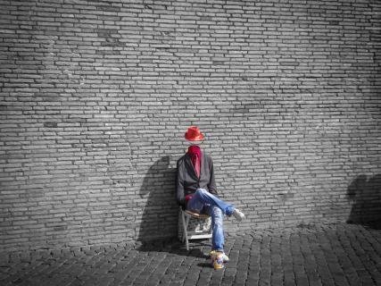 Street artist in Rom