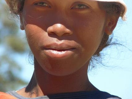 Junge Frau in Madagaskar