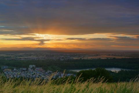Sonnenuntergang Michaelsberg