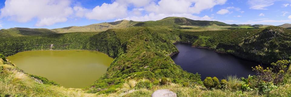 Azoren: Zwillingsseen Lagoa Funda and Lagoa Comprida