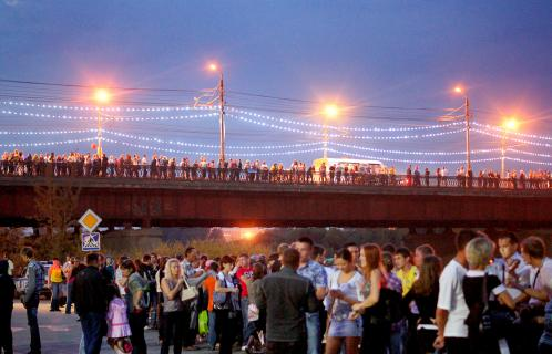 Straßenfest in Großstadt