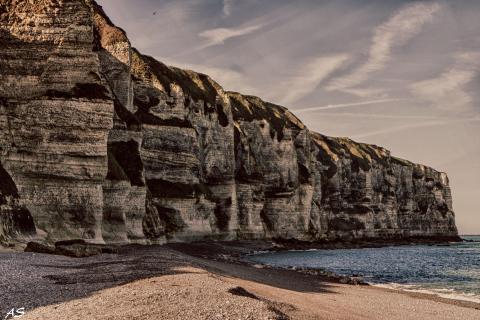 Kreideküste der Normandie bei Etretat