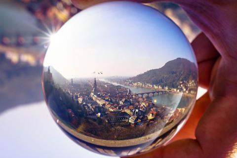 Heidelberg durch Glas