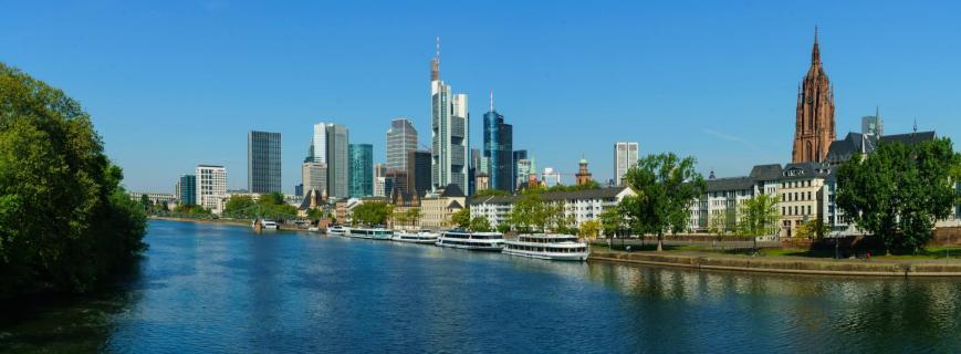 Skyline Panorama von Frankfurt am Main