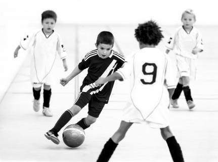 4-Kampf beim Fußball