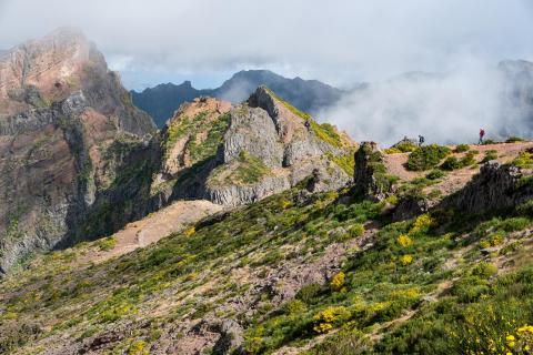 Wanderer am Pico do Arieiro