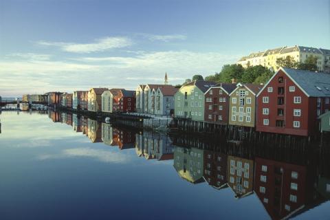 An einem Sommerabend in Norwegen