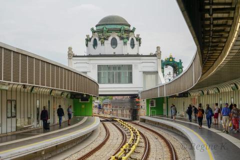 U4 mit Blick auf Hofpavillon