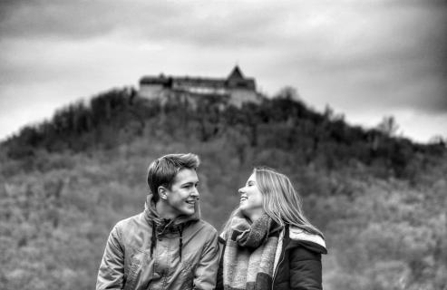 Blick auf Schloss Waldeck