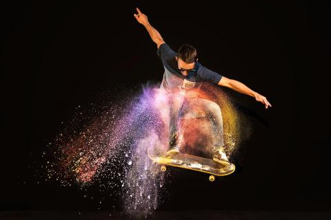Rainbow Skater