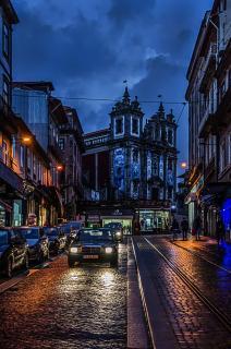 Nach dem Regen Innenstadt Porto Portugal