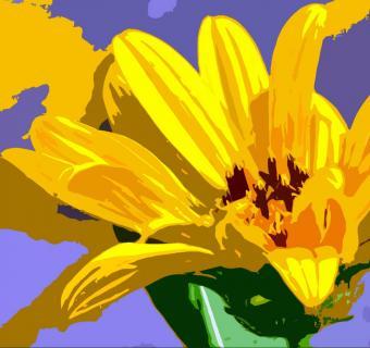 Gelbe Blüte abstrakt