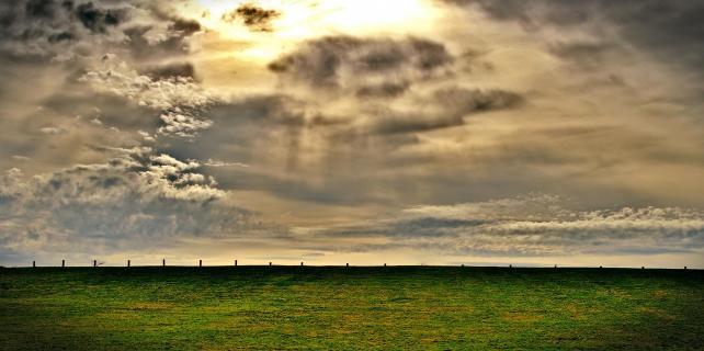 aufziehende Wolkenfront