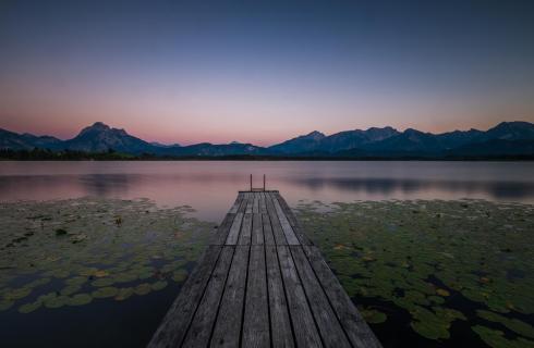 Sonnenuntergang im Allgäu