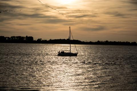 Boat under the sun