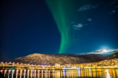 Polarlicht über der Eismeerkathedrale