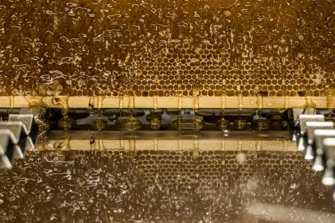 Der Fluss des flüssigen Goldes