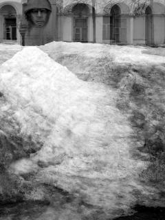Schmutziger Schnee