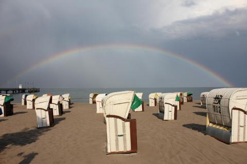 Regenbogen an der Ostsee