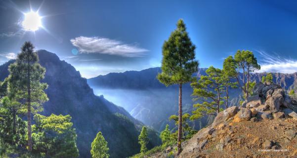 Caldera La Palma HDR Panorama