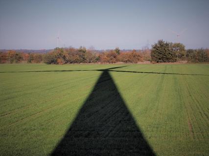 Schatten einer Windenergieanlage