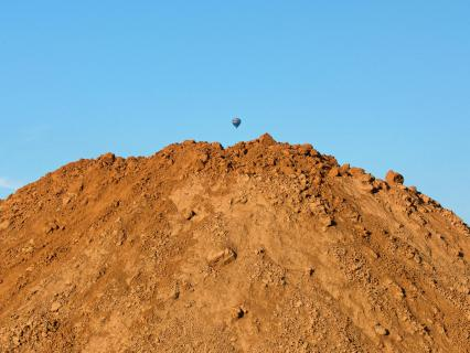 Ballon über Sandberg