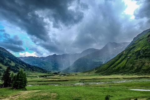 Alpen Gewitter Panorama
