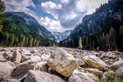 Alpen, Fluß, Berge
