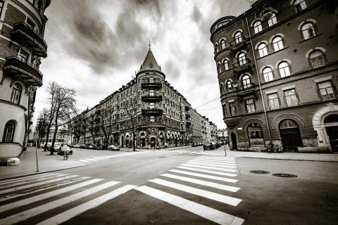 Stockholm Zebrastreifen