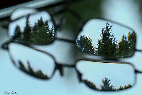 Das sieht meine Brille ohne mich...