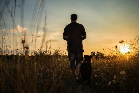 Selbstportrait mit Hund