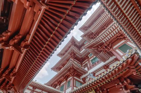 Thian Hoch Keng Tempel in Singapore