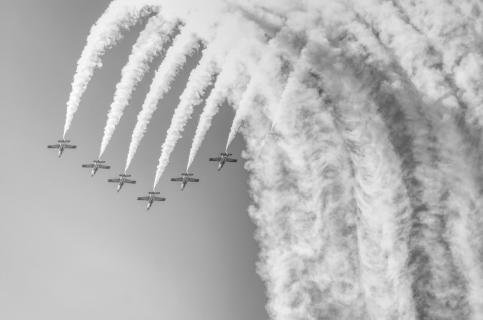 Flugshow Air14 (Schwarz Weiss)