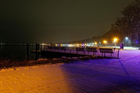 nachts in Heiligenhafen