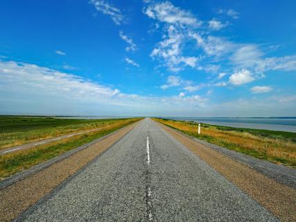 Die Straße nach Thyborøn.