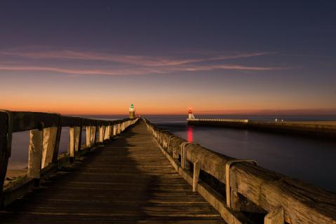 Seebrücke im Abendlicht