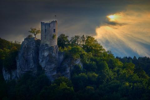 Burg Ruine Neideck bei Streitberg