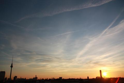 Auf dem Dach in Berlin