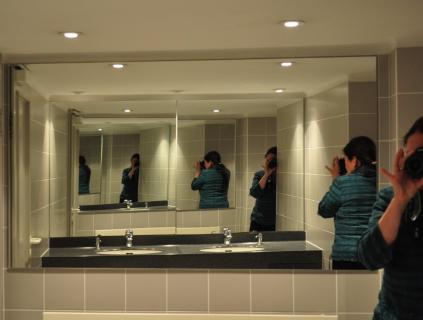 Spiegelung der Fotografin