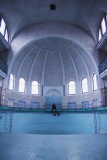 Das verlassenen Schwimmbad