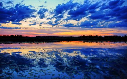 zwischen dem Blau liegt der Horizont