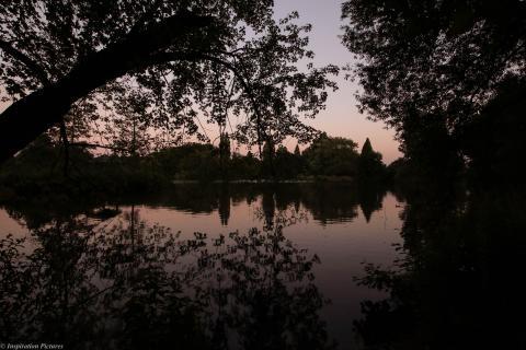 Stadtpark Gladbeck zur später Stunde
